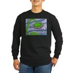 Bent Sunflower (grey) Long Sleeve Dark T-Shirt