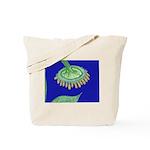 Bent Sunflower (blue) Tote Bag