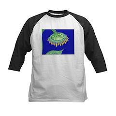 Bent Sunflower (blue) Kids Baseball Jersey