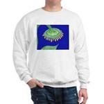 Bent Sunflower (blue) Sweatshirt