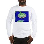 Bent Sunflower (blue) Long Sleeve T-Shirt