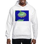 Bent Sunflower (blue) Hooded Sweatshirt
