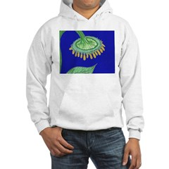 Bent Sunflower (blue) Hoodie