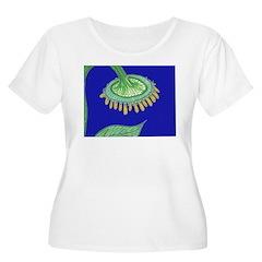 Bent Sunflower (blue) T-Shirt