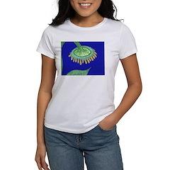 Bent Sunflower (blue) Women's T-Shirt
