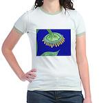 Bent Sunflower (blue) Jr. Ringer T-Shirt