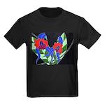 Twin Orchids Kids Dark T-Shirt