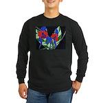 Twin Orchids Long Sleeve Dark T-Shirt