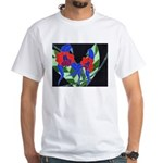 Twin Orchids White T-Shirt