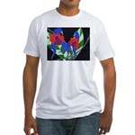 Twin Orchids Fitted T-Shirt