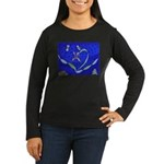 Buddah Orchid Women's Long Sleeve Dark T-Shirt