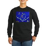 Buddah Orchid Long Sleeve Dark T-Shirt