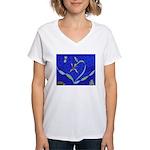 Buddah Orchid Women's V-Neck T-Shirt