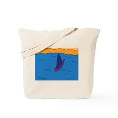 Lone Boat (blue) Tote Bag