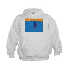 Lone Boat (blue) Hoodie