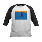 Lone Boat (blue) Kids Baseball Jersey