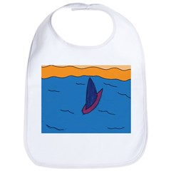 Lone Boat (blue) Bib