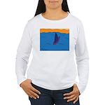 Lone Boat (blue) Women's Long Sleeve T-Shirt