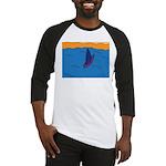 Lone Boat (blue) Baseball Jersey