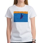 Lone Boat (blue) Women's T-Shirt
