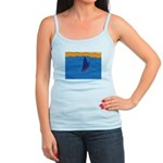 Lone Boat (blue) Jr. Spaghetti Tank