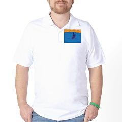 Lone Boat (blue) Golf Shirt