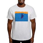 Lone Boat (blue) Light T-Shirt