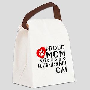 Proud Mom of Australian Mist Cat Canvas Lunch Bag