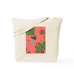small Botanical (pink) Tote Bag