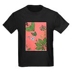 small Botanical (pink) Kids Dark T-Shirt