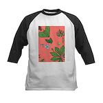 small Botanical (pink) Kids Baseball Jersey
