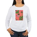 small Botanical (pink) Women's Long Sleeve T-Shirt