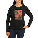 small Botanical (pink) Women's Long Sleeve Dark T-