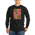 small Botanical (pink) Long Sleeve Dark T-Shirt