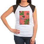 small Botanical (pink) Women's Cap Sleeve T-Shirt
