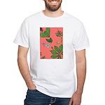 small Botanical (pink) White T-Shirt