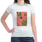 small Botanical (pink) Jr. Ringer T-Shirt