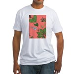 small Botanical (pink) Fitted T-Shirt