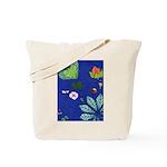small Botanical (blue) Tote Bag