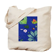 small Botanical (blue) Tote Bag