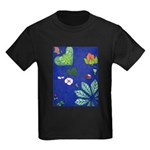 small Botanical (blue) Kids Dark T-Shirt
