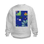 small Botanical (blue) Kids Sweatshirt