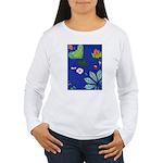 small Botanical (blue) Women's Long Sleeve T-Shirt