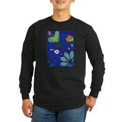 small Botanical (blue) T