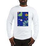 small Botanical (blue) Long Sleeve T-Shirt