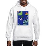 small Botanical (blue) Hooded Sweatshirt