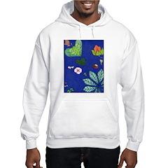 small Botanical (blue) Hoodie