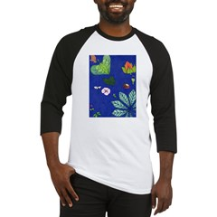 small Botanical (blue) Baseball Jersey