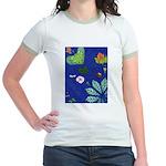small Botanical (blue) Jr. Ringer T-Shirt