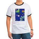 small Botanical (blue) Ringer T